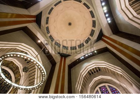 MONTREAL CANADA OCTOBER 09 2016 : interiors and details of Saint Joseph's Oratory october 09 2016 in Montreal quebec Canada