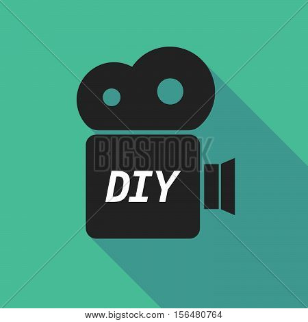 Long Shadow Camera Icon With    The Text Diy