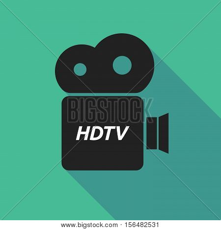 Long Shadow Camera Icon With    The Text Hdtv