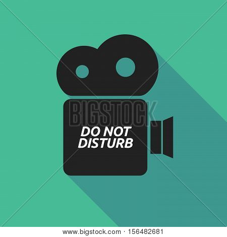 Long Shadow Camera Icon With    The Text Do Not Disturb