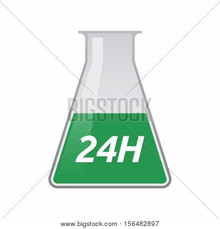 Isolated Test Tube With    The Text 24H