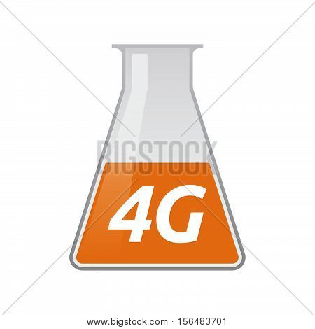 Isolated Test Tube With    The Text 4G