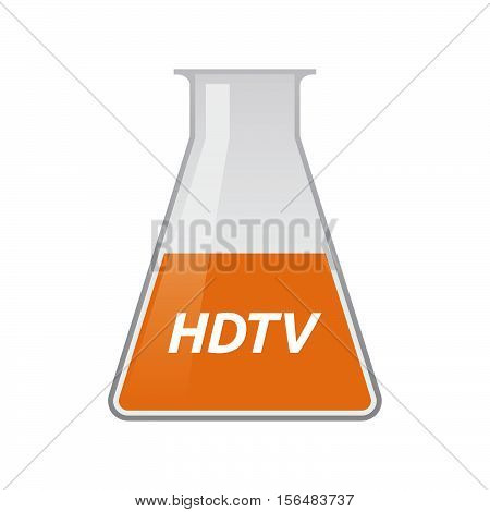 Isolated Test Tube With    The Text Hdtv