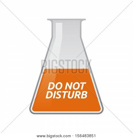 Isolated Test Tube With    The Text Do Not Disturb
