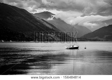 Gmunden Lake Austria The weather was calm and peaceful and then a storm came out of nowhere.  Really impressive how quick it was!