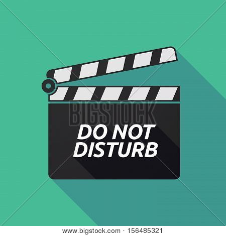Long Shadow Clapper Board With    The Text Do Not Disturb
