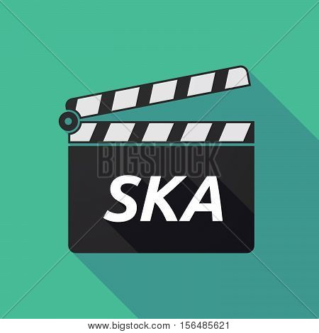 Long Shadow Clapper Board With    The Text Ska