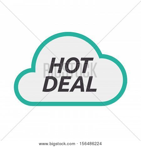 Isolated Cloud Icon With    The Text Hot Deal