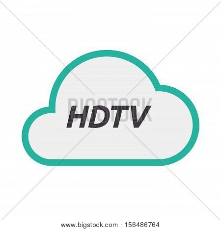 Isolated Cloud Icon With    The Text Hdtv