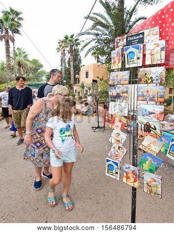 Hippy Market Postcards Es Canar Ibiza
