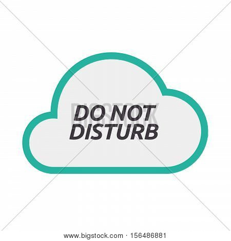 Isolated Cloud Icon With    The Text Do Not Disturb