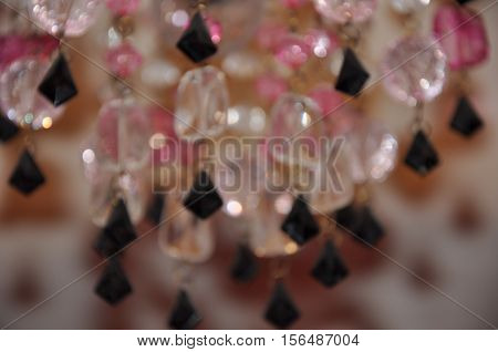 Beautiful Chandelier Crystals Background