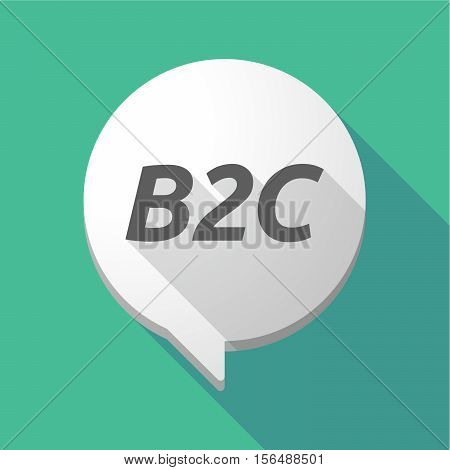 Long Shadow Comic Balloon With    The Text B2C
