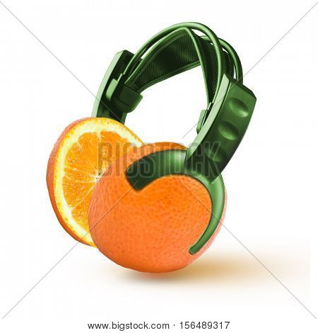headphones in the form of an orange