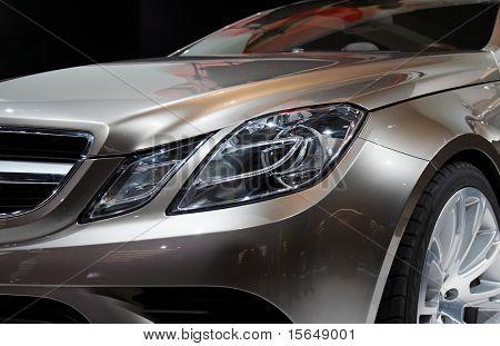 PARIS, FRANCE - OCTOBER 02: Paris Motor Show  on October 02, 2008, showing Mercedes-Benz Fascination Concept, front light detail.