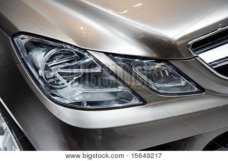 PARIS, FRANCE - OCTOBER 02: Paris Motor Show 2008, Mercedes-Benz Fascination Concept, front light detail