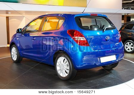 PARIS, FRANCE - OCTOBER 02: Paris Motor Show on October 02, 2008, showing Hyundai i20, rear view