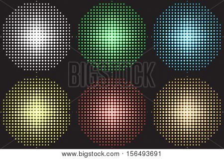 Vector illustration of a music equalizer, soundlights for dance floor, disco.