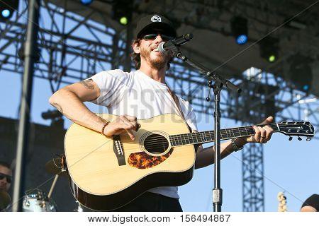 LAKE WALES, FL-NOV 4: Chris Janson performs at the CountryFlo Music and Camping Festival on November 4, 2016 in Lake Wales, Florida.