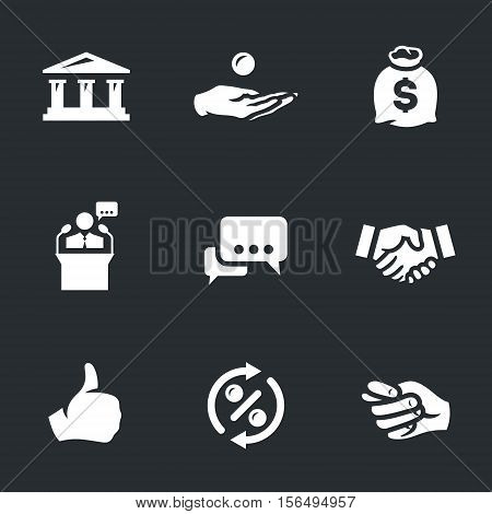 Bank, loan, moneybag, banker, talk, deal, approval, percent, renouncement.