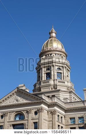 Wyoming State Capitol building is located in Cheyenne WY USA.