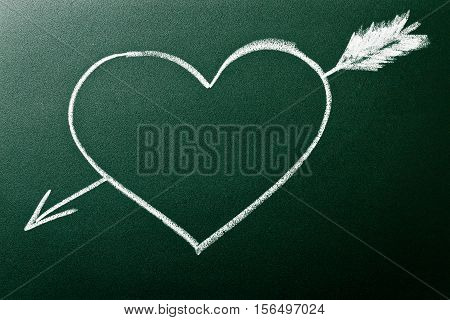 Heart And Arrow As Concept Of Love At First Sight