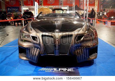 HELSINKI, FINLAND - OCTOBER 3: X-Treme Car Show, showing BMW Sinister 6 concept on October 3, 2009 in Helsinki, Finland