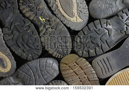 soled shoes texture equipment old background abstract structure