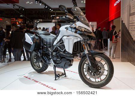 Ducati Motorbike On Display At Eicma 2016