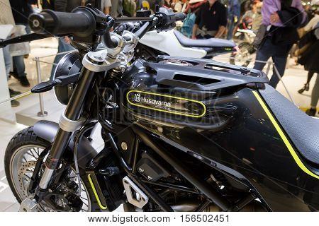 Husqvarna Motorbike On Display At Eicma 2016