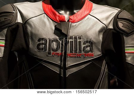 Aprilia Jacket On Display At Eicma 2016