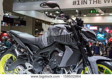 Yamaha Motorbike On Display At Eicma 2016