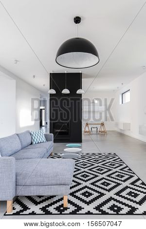 Minimalist Black And White Living Room