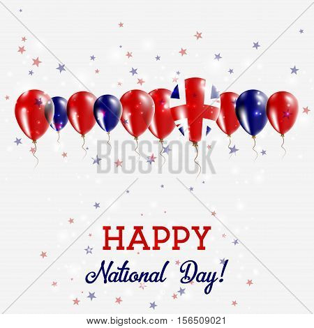 United Kingdom Independence Day Sparkling Patriotic Poster. Happy Independence Day Card With United