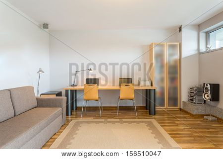 Modern Room In Grey Colours