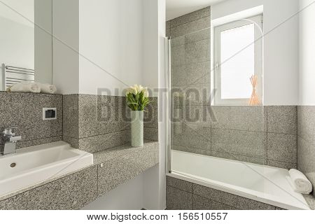 Modern And Grey Bathroom