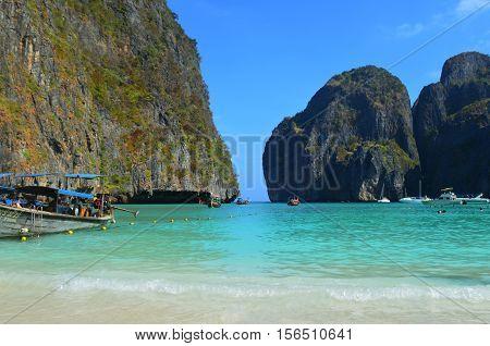 Maya Bay beach, Ko Phi Phi Don, Thailand