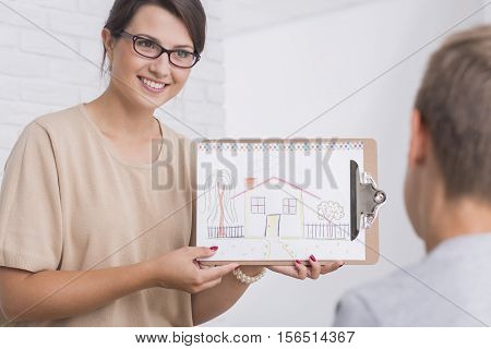 Therapist Showing A Picture