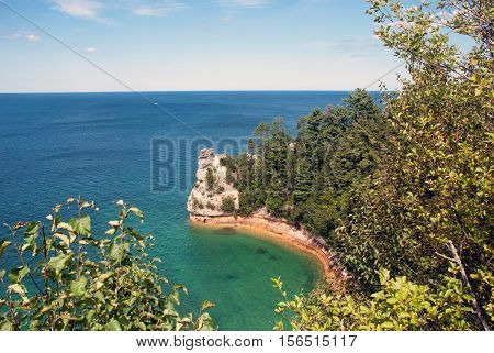 Miners' Castle at Pictured Rocks National Lakeshore on Lake Superior near Munising, Michigan, USA