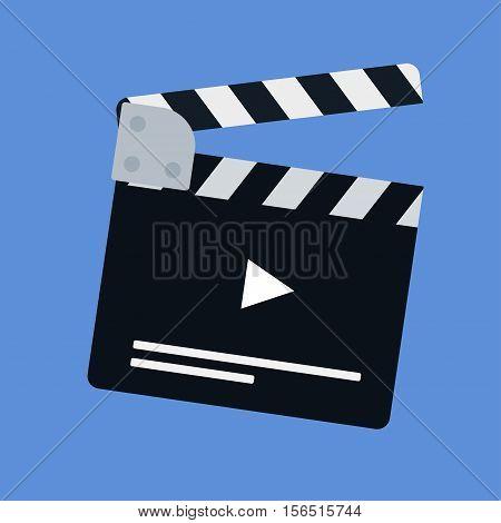 Flat Movie Clapperboard