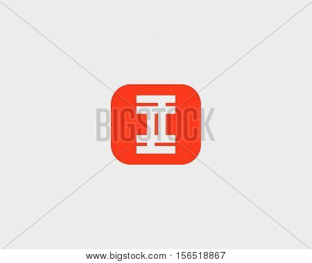 Abstract letter I logo design template. Colorful creative square sign. Universal vector icon