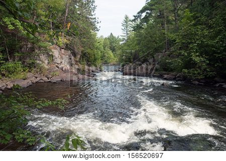 Pike River is a tributary of the Menominee River and flows through Marinette County, Wisconsin, USA