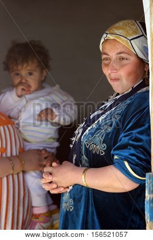 MAHMUR, IRAQ-JAN 26: Unidentified family in Mahmur Refugee Camp, Iraq, January 26,2007. Mahmur Camp is a home to 12,000 refugees who fled from Turkey in the 90s - those due to clashes between PKK and Turkish army