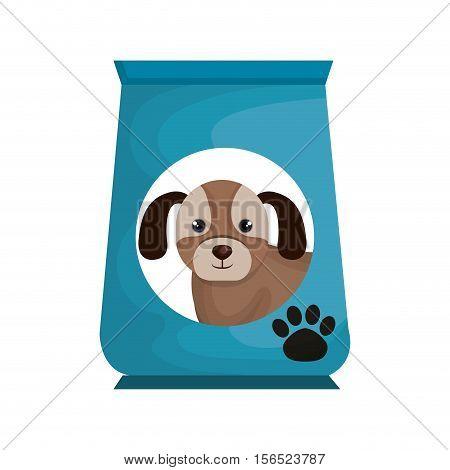 dog bag food mascot vector illustration design