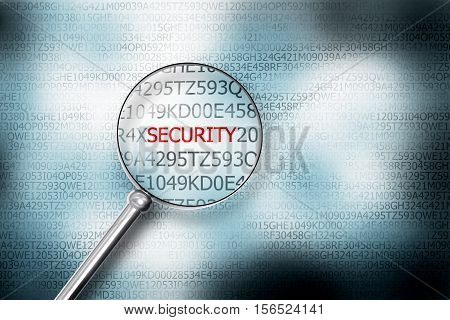 reading the word security browser search 3D Illustration