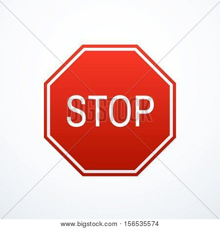 Red stop sign. Vector illustration eps 10.
