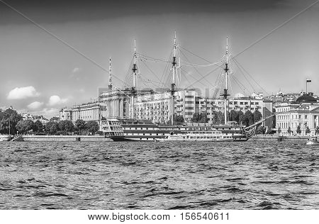 View Of The Frigate Grace, St. Petersburg, Russia