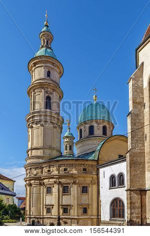 Exterior of the church of St. Catherine included in Mausoleum of Ferdinand II Graz Austria