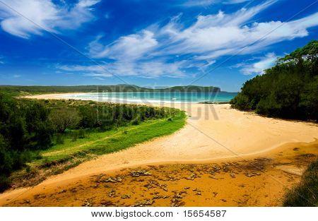 Colourful Beach Scene
