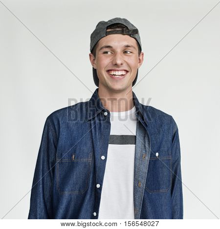 Young Boy Smiling Silly Face Expression Concept